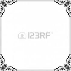 Dekoracyjne ramki na biaÅ'ym tle Zdjęcie Seryjne