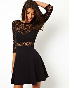 7487864189c60 LACE STITCHING BACKLESS SEXY CLOTHING Mini Skater Dress, Straight Dress,  Types Of Dresses,