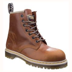 68ba9d74f7a High Fashion Dr Martens Icon Classic Tan Leather Airwair Safety Boots  available in Ladies Sizes Classic