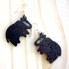 Coconut Elephant Earrings from Soothi | Style With Substance