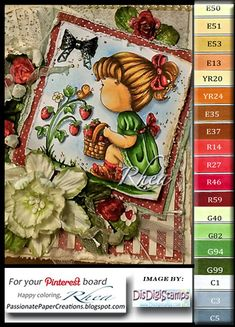 Passionate Paper Creations: Hello Strawberries - Di's Digital Stamps