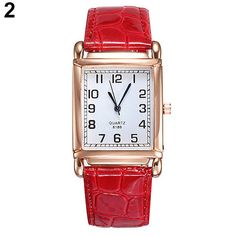 2019 New Watches Women Square Rose Gold Wrist Watches Red Leather Fashion Brand Watches Female Ladies Quartz Clock montre femme Women's Dress Watches, Wrist Watches, Women's Watches, Cheap Watches, Sport Watches, Casual Watches, Square Watch, Leather Fashion, Red Leather