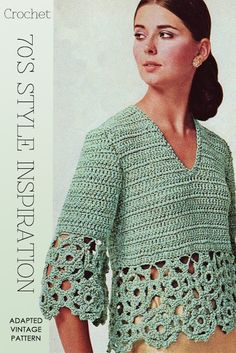 Love, love the 70's images and fashion influences | adapted  pattern available of this vintage look