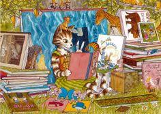 Findus reading books