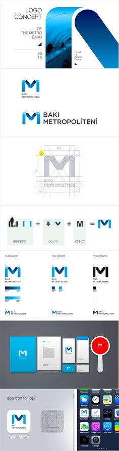 Logo concept of the metro Baku by Shamil Askerov,  more http://www.behance.net/ShamilAskerov http://www.behance.net/gallery/Logo-concept-of-the-metro-Baku/12198643 #UI #Design