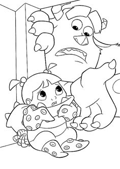 monsters inc coloring pages for kids google search - Space Jam Monstars Coloring Pages