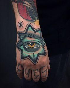 Had the honour and pleasure of tattooing @christopherslapsin hand. Thanks buddy nice to meet you dude! #londontattoos #londontattoo #tattoo #tattoos #handtattoo #handtattoos #eyetattoo #bricklane #shoreditch