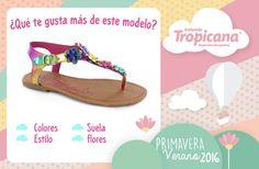 #Mami, llego un nuevo modelo de  arcoirís  a #Tropicana ¿Qué es lo que más te gusta? Suela Flores Colores  Estilo  #Calzado #Tropicana