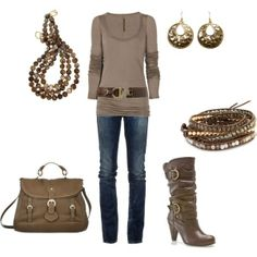 A fashion look from February 2012 featuring brown top a01a328c2c8