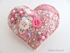 I ❤ crazy quilting & embroidery . . . crazy quiltie pin ~By beedeebabee