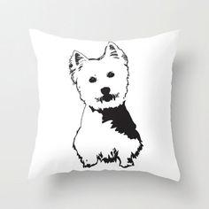 Items similar to West Highland Terrier Kids Room Decor, Westie Dog Nursery Cushion Cover, Cute Decorative Cushions, Kid Room Throw Pillow, Monochrome Nursery on Etsy Dog Nursery, Nursery Decor, Room Decor, Westies, Westie Dog, Throw Pillow Covers, Throw Pillows, Monochrome Nursery, West Highland Terrier