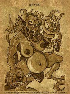 Evil Demons, My Demons, Angels And Demons, Fantasy Demon, Demon Art, Fantasy Art, Monster Pictures, Myths & Monsters, Satanic Art