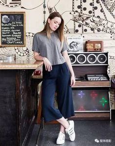 Midi Trousers Culotte Pants in we have chosen the newest fashi Basic Outfits, Mode Outfits, Fashion Outfits, Womens Fashion, Fashion Trends, Looks Chic, Looks Style, Casual Looks, Cullotes Outfit Casual
