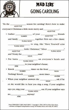 Mad libs are word games that create a new story by changing a few selected words in the story. Description from christmasmadlibs.blogspot.com. I searched for this on bing.com/images