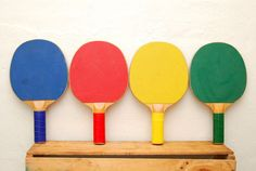 4 Vintage Ping Pong Paddles - 27$ on Etsy.com