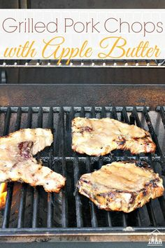 Great Grilled Pork Chops with Apple Butter. A tasty grilled pork chops entrée that is perfect for wrapping up a busy day. These pork chops are savoury with a hint of sweet, and all around delicious.