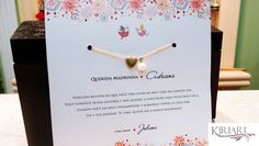 Convite Madrinha casamento c/ pulseira