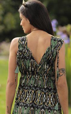 Vestido Curto Topazio Verde