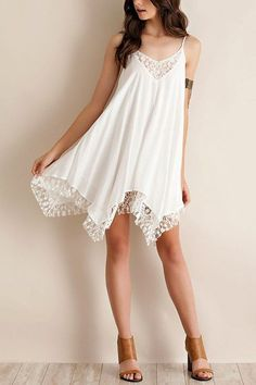 V-neck Chiffon Cami Midi Dress