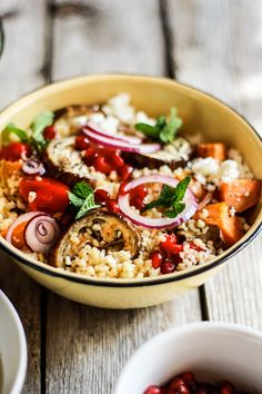 Cracked Wheat Harvest Salad   The Clever Carrot...use quinoa instead of cracked wheat!!!