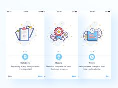Simple Guide page design by luking #Design Popular #Dribbble #shots