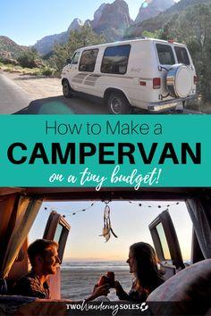DIY Campervan Conversion on a Tiny Budget in Less Than 1 Week Bus Conversion, Diy Van Conversions, Van Conversion Budget, Van Life, Road Trip Planner, Travel Planner, Road Trip Essentials, Road Trip Hacks, Diy Interior