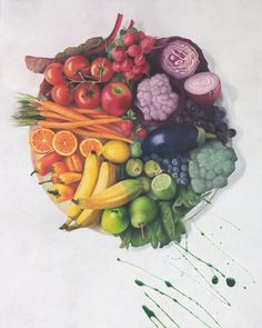 Culinary Color Wheel in coloured pencils by Nicole Caulfield