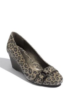 Classic Animal Print Wedge