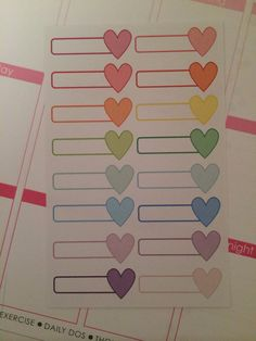 Heart Tags  set of 16  for your Erin Condren by createdbydanielle1