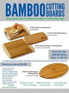 Bamboo Cutting Boards, $5.00 Spec Sample