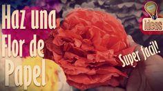 Como hacer: una flor de papel - Super facil y divertido!