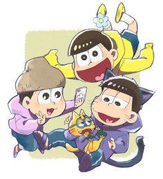 Osomatsu-san  Ichimatsu, Jyushimatsu & Todomatsu #Anime「♡」