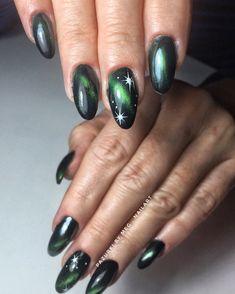 #nails #nailart #cateye #indigonails #nailsoftheday #mirrornails