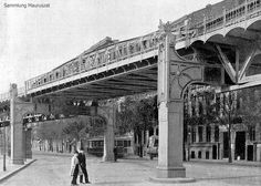 Alfred Grenander, Hochbahnviadukt Berlin (in der Gitschinerstrasse 1902)