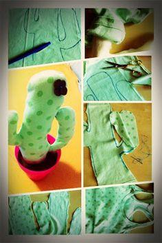 #Manualidades ¿cómo hacer un cactus de tela?