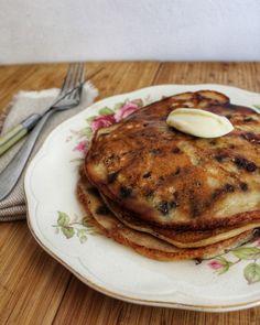 Pancakes aux pépites de chocolat et à la banane