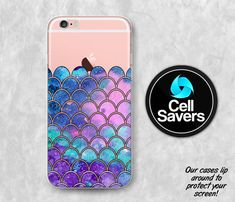 Mermaid Scales Clear iPhone 6s Case iPhone 6 Case by CellSavers