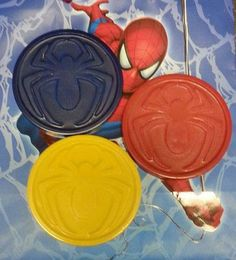 Check out this item in my Etsy shop https://www.etsy.com/listing/211473491/spiderman-crayons-superhero-crayons