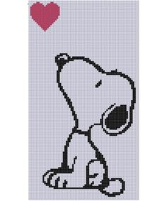 Looking for your next project? You're going to love Snoopy Heart 2 Cross Stitch Pattern by designer bracefacepatterns.