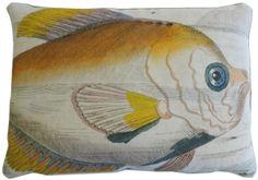 Yellow Fish Pillow