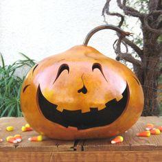 Halloween Jack O Lantern Gourd Natural Carved Fall Decoration