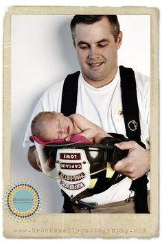 Firefighter & Baby photos
