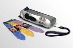 Polaroid iZone instant camera. You could get film that made your photos into stickers.