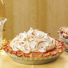 Sweet potato pie with marshmallow meringue recipe | MyRecipes.com