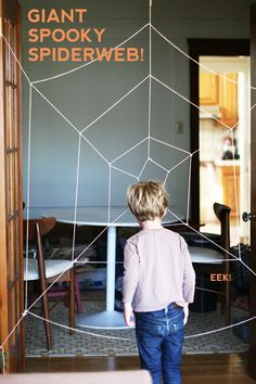 spiderweb - maybe use as an obstacle course and the kids have to somehow get through it...