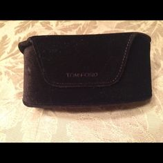 Tom Ford sunglasses case This is large black velvet sunglasses case with clothe. It has a closing magnet lid. Tom Ford Other