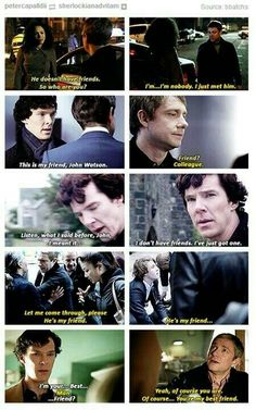 Evolution of Sherlock & John's friendship