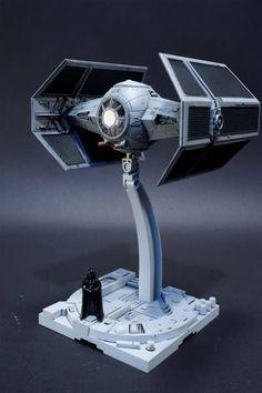Bandai x Star Wars 1/72 TIE Advanced x1: Work by ayusaku2002. Full Photoreview Hi res Images | GUNJAP