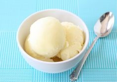 Cool down with a scoop of smooth and creamy pineapple sorbet. This easy sorbet recipe will take you to tropical paradise. Ice Cream Treats, Ice Cream Desserts, Frozen Desserts, Ice Cream Recipes, Cold Desserts, Healthy Desserts, Pineapple Sorbet, Pineapple Recipes, Pallets