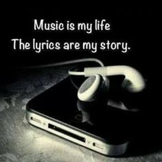 Music is my life, the lyrics are my story. I couldn't live without listening to my music because music is the way i express myself through my own songs. I make sure to listen to music every day. Music Is My Escape, I Love Music, Music Is Life, Passion Music, Music Heart, Music Music, Sad Heart, Music Books, Rock Music